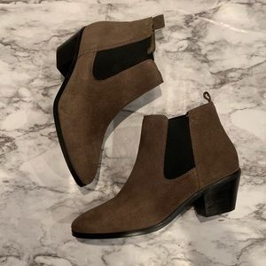 Marc Fisher Chelsea Suede Green Ankle Boots Shoes